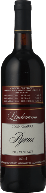 LINDEMANS Pyrus Cabernets, Coonawarra 1988