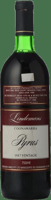 LINDEMANS Pyrus Cabernets, Coonawarra 1987