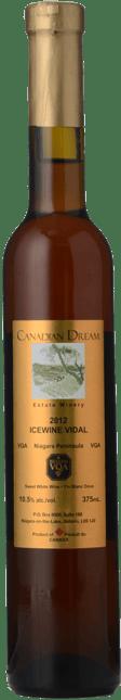 CANADIAN DREAM Icewine Vidal, Niagara Peninsula 2012