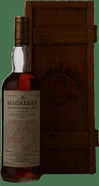 MACALLAN 25 Year Old The Anniversary Malt 43% ABV, Speyside NV