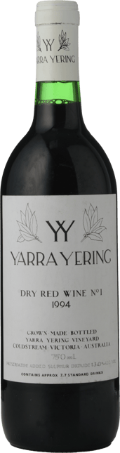 YARRA YERING Dry Red Wine No.1 Cabernets, Yarra Valley 1994
