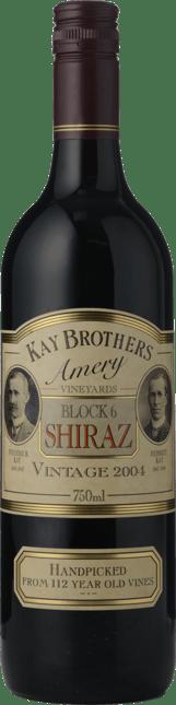 KAY BROS AMERY Block 6 Old Vine Shiraz, McLaren Vale 2004