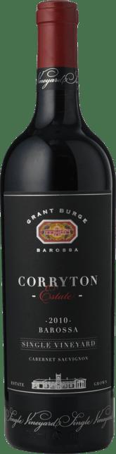 GRANT BURGE Corryton Estate Single Vineyard Cabernet, Barossa 2010