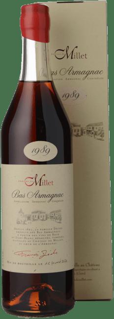 CHATEAU DE MILLET 42% ABV, Bas Armagnac 1989