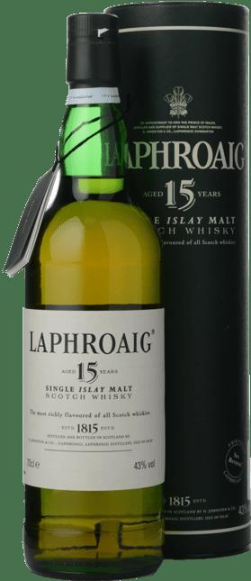 LAPHROAIG 15 Year Old Single Malt Whisky 43% ABV, Islay NV