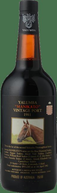 YALUMBA Manikato Vintage Port, Barossa Valley 1981