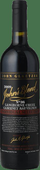 GLAETZER WINES Johns Blend Individual Selection Cabernet Sauvignon, Langhorne Creek 2009