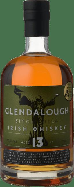 GLENDALOUGH DISTILLERY 13 Year Old Single Malt Irish Whiskey 46% ABV, Ireland NV