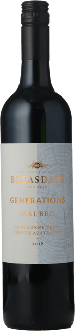 BLEASDALE VINEYARD Generations Malbec, Langhorne Creek 2018