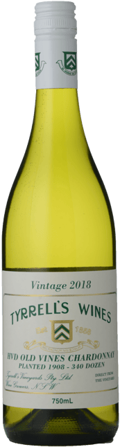 TYRRELL'S HVD Old Vines Chardonnay, Hunter Valley 2018