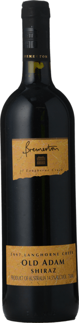 BREMERTON WINES Old Adam Shiraz, Langhorne Creek 1997