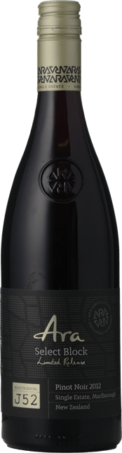 ARA WINES Select Block Limited Release Pinot Noir, Marlborough 2012