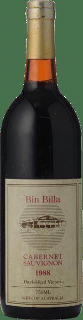 BIN BILLA WINERY Cabernet Sauvignon, Macedon 1988