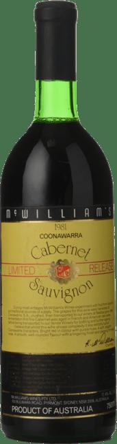 MCWILLIAM'S Limited Release Cabernet, Coonawarra 1981