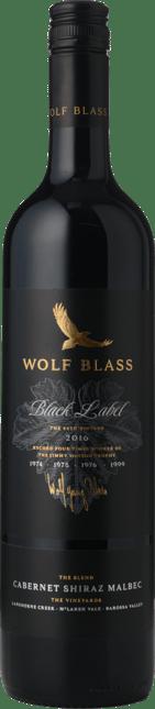 WOLF BLASS WINES Black Label, South Australia 2016
