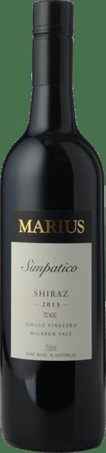MARIUS WINES Simpatico Single Vineyard Shiraz, McLaren Vale 2013