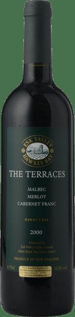 ESK VALLEY ESTATE The Terraces Merlot Malbec Cabernet Blend, Hawkes Bay 2000