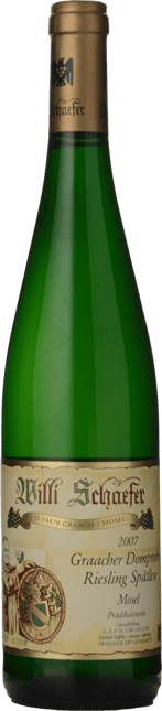 WILLI SCHAEFER Graacher Domprobst Goldkapsel #12 Riesling-Spatlese, Mosel-Saar-Ruwer 2007