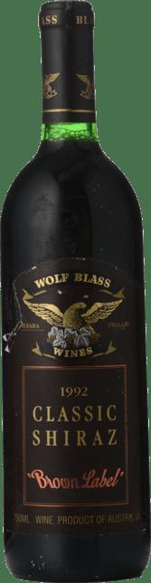 WOLF BLASS WINES Brown Label Classic Shiraz, South Australia 1992