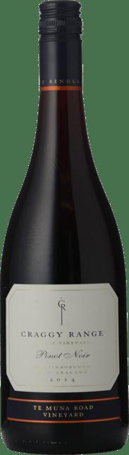 CRAGGY RANGE WINERY Te Muna Road Vineyard Pinot Noir, Martinborough 2014