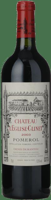 CHATEAU L'EGLISE CLINET, Pomerol 2003