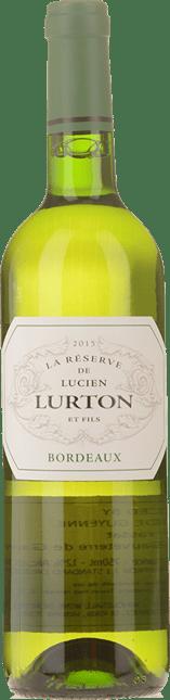 LUCIEN LURTON La Reserve Blanc, Bordeaux 2015