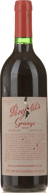 PENFOLDS Bin 95 Grange Shiraz, South Australia 1997