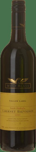 WOLF BLASS WINES Yellow Label Cabernet Sauvignon, South Australia 2005