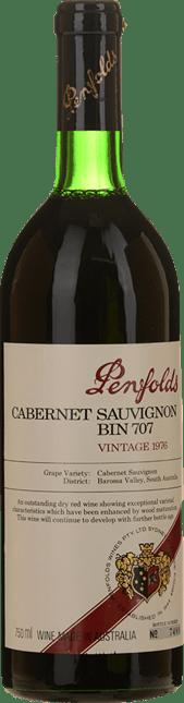 PENFOLDS Bin 707 Cabernet Sauvignon, South Australia 1976