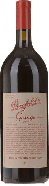 PENFOLDS Bin 95 Grange Shiraz, South Australia 2003