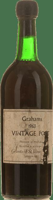 GRAHAM'S Grant's of St. James bottled Vintage Port, Oporto 1963