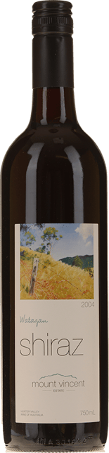 MOUNT VINCENT Watagan Shiraz, Hunter Valley 2004
