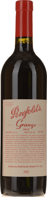 PENFOLDS Bin 95 Grange Shiraz, South Australia 2013