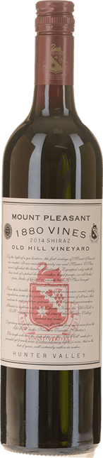 MOUNT PLEASANT 1880 Vines Old Hill Vineyard Shiraz, Hunter Valley 2014
