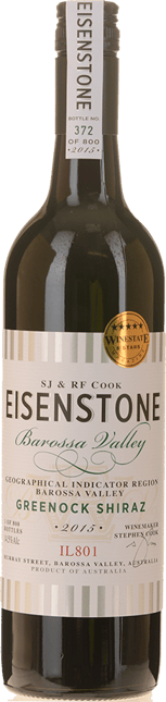 EISENSTONE Greenock Shiraz, Barossa Valley 2015