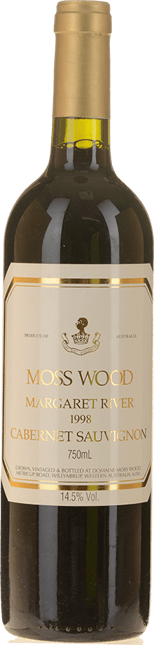 MOSS WOOD Moss Wood Vineyard Cabernet Sauvignon, Margaret River 1998