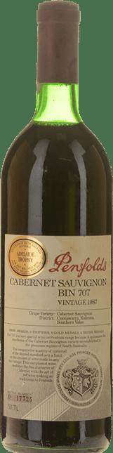 PENFOLDS Bin 707 Cabernet Sauvignon, South Australia 1987