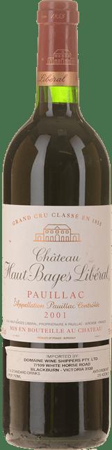 CHATEAU HAUT-BAGES-LIBERAL 5me cru classe, Pauillac 2001