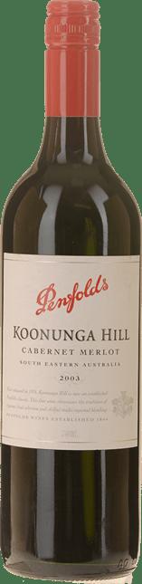 PENFOLDS Koonunga Hill Cabernet Merlot, South Australia 2003