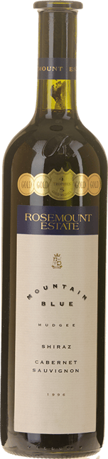 ROSEMOUNT ESTATE Mountain Blue Shiraz Cabernet, Mudgee 1996