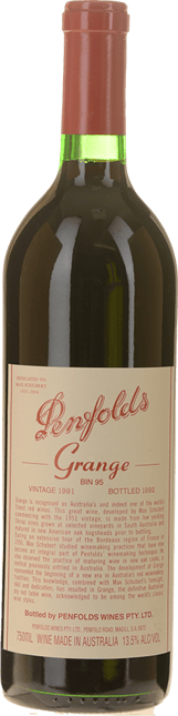 PENFOLDS Bin 95 Grange Shiraz, South Australia 1991