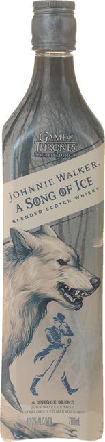 JOHNNIE WALKER GOT A Song of Ice Blended Scotch Whisky 40.2% ABV, Scotland NV