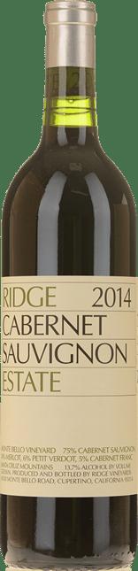 RIDGE VINEYARDS Cabernet Sauvignon, Santa Cruz Mountains 2014