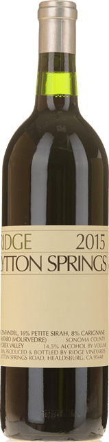 RIDGE VINEYARDS Lytton Springs Zinfandel Petite Syrah Carignan, Sonoma 2015