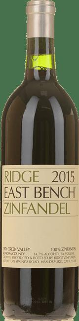 RIDGE VINEYARDS East Bench Zinfandel, Santa Cruz Mountains 2015
