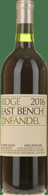 RIDGE VINEYARDS East Bench Zinfandel, Santa Cruz Mountains 2016