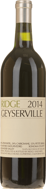 RIDGE VINEYARDS Geyserville Zinfandel blend, Alexander Valley 2014