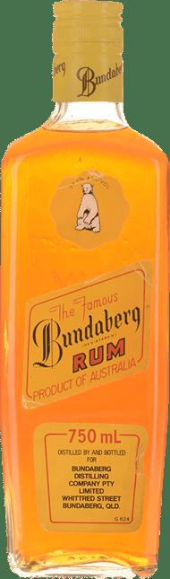 BUNDABERG Bear 1 Under Proof Rum Bourbong St. 750mL Bottle 37.1% ABV, Bundaberg NV