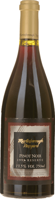 MARTINBOROUGH VINEYARD Reserve Pinot Noir, Martinborough/Waiparapa 1998