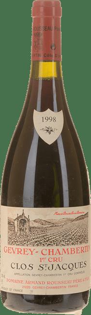 DOMAINE ARMAND ROUSSEAU Clos St Jacques 1er cru, Gevrey-Chambertin 1998